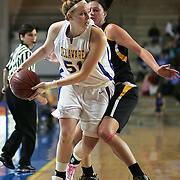 Delaware Junior Center (#51) Sarah Acker drives down the line in the first half, Acker finished with 6 points as Delaware defeated Towson 75-57 Wednesday at The Bob Carpenter Center In Newark Delaware...Special to The News Journal/SAQUAN STIMPSON