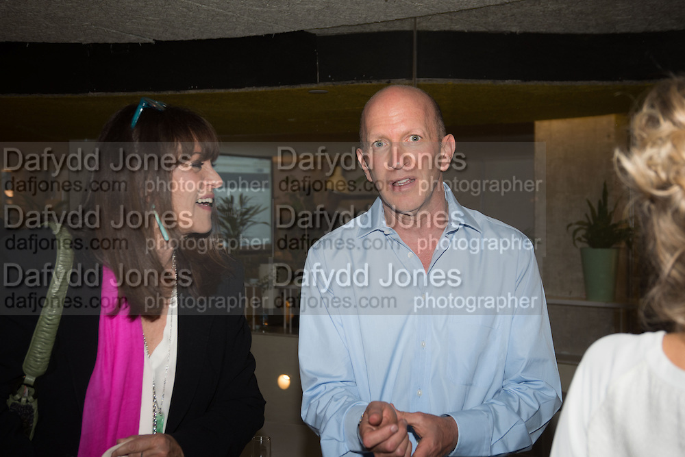 GAIL REBUCK; SIMON SEBAG MONTEFIORE, Launch of ' More Human',  Designing a World Where People Come First' by Steve Hilton. Party held at Second Home in Princelet St, off Brick Lane, London. 19 May 2015.