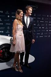 14.11.2011, Hotel Grand Tirolia, Kitzbuehel, AUT, Verleihung Laureus Medienpreis 2011, Roter Teppich im Bild Jens Lehmann mit Ehefrau Conny // at the red carpet of the Laureus Media Award 2011 at the Grand Hotel Tirolia in Kitzbuehel, Austria on 14/11/2011. EXPA Pictures © 2011, PhotoCredit: EXPA/ Johann Groder