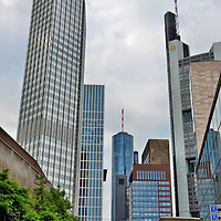 Financial District in Frankfurt, Germany <br />