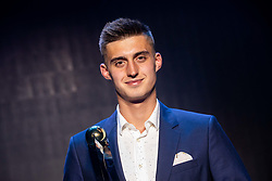 Anel Hajrić (Radomlje) posing as Best player of 2. SNL of the year during SPINS XI Nogometna Gala 2019 event when presented best football players of Prva liga Telekom Slovenije in season 2018/19, on May 19, 2019 in Slovene National Theatre Opera and Ballet Ljubljana, Slovenia. Photo by Vid Ponikvar / Sportida