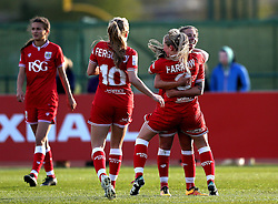 Millie Farrow of Bristol City Women celebrates scoring a goal with her teammates - Mandatory by-line: Robbie Stephenson/JMP - 02/01/2012 - FOOTBALL - Stoke Gifford Stadium - Bristol, England - Bristol City Women v Aston Villa Ladies - FA Women's Super League 2
