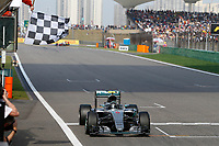 ROSBERG Nico (ger) Mercedes GP MGP W07 action - arrivee finish line during 2016 Formula 1 FIA world championship, China Grand Prix, at Shanghai from April 15 to 17 - Photo DPPI