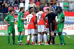 01-05-2008 VOETBAL: FC UTRECHT - FC GRONINGEN: UTRECHT<br /> In de eerste play off wedstrijd speelt FC Utrecht gelijk tegen Groningen 2-2 / Evgeniy Levchenko scoort de 2-2<br /> ©2008-WWW.FOTOHOOGENDOORN.NL