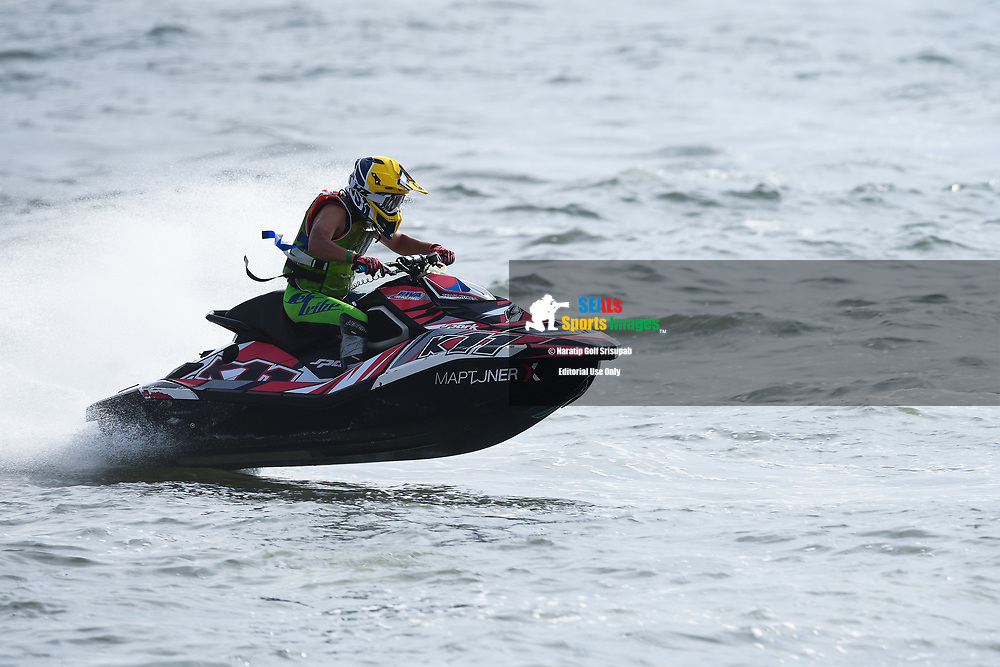 PATTAYA, THAILAND - DECEMBER 09: Youngchul Awn (K11) of Korea and Jettribe Korea Team in action during the Pro Runabout 1100 Open Moto4 at the Thai Airways International Jet Ski World Cup 2018, Jomtien Beach, Pattaya, Thailand on December 09, 2018. <br /> .<br /> .<br /> .<br /> (Photo by: Naratip Golf Srisupab/SEALs Sports Images)<br /> .<br /> Any image use must include a mandatory credit line adjacent to the content which should read: Naratip Golf Srisupab/SEALs Sports Images