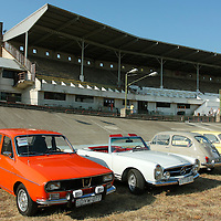Renault R12, Mercedes-Benz W113 230 SL, Zastava 750, NSU 1000C (from front to back), Velodrom Millenaris, 2011, Budapest, Hungary