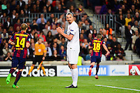 Zlatan IBRAHIMOVIC - 21.04.2015 - Barcelone / Paris Saint Germain - 1/4Finale Retour Champions League<br />
