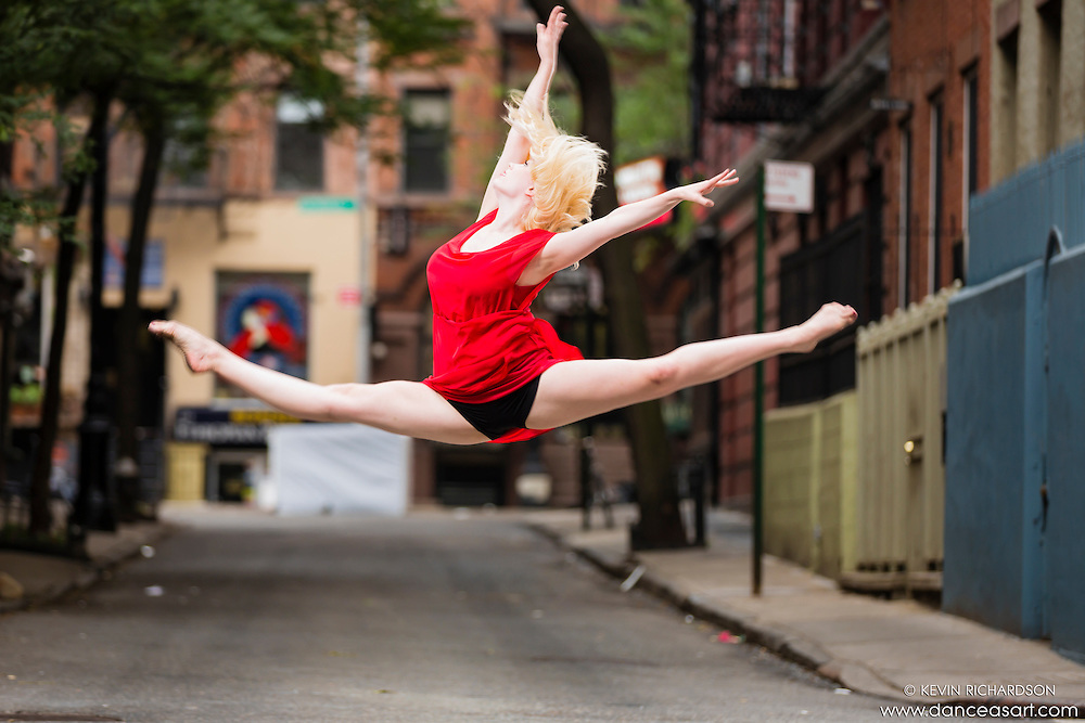 Streets of New York City Dance As Art Photography Project in West Village featuring dancer Alysa Ness