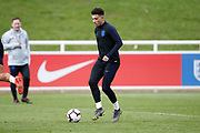 Jadon Sancho (Borussia Dortmund)  during the England training session ahead of the UEFA Euro Qualifier against the Czech Repulbic, at St George's Park National Football Centre, Burton-Upon-Trent, United Kingdom on 19 March 2019.