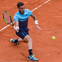 Damir Dzumhur of Bosnia and Herzegovina during Day 6 of the French Open 2018 on June 1, 2018 in Paris, France. (Photo by Baptiste Fernandez/Icon Sport)