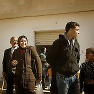 TUNISIA, SIDI BOUZID : People in  in Sidi Bouzid where  Mohammed Bouazizi set himself alight on a cart in a protest against police oppression. Copyright Christian Minelli.