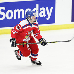 COBOURG, - Dec 14, 2015 -  Game #3 - United States vs Czech Republic at the 2015 World Junior A Challenge at the Cobourg Community Centre, ON. David Kvasnicka #12 of Team Czech Republic follows the play during the first period.(Photo: Tim Bates / OJHL Images)