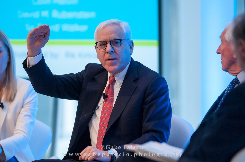 David M. Rubenstein, Co-founder and Co-CEO, The Carlyle Group,  at the Long Term Value Summit in New York on March 10, 2015.