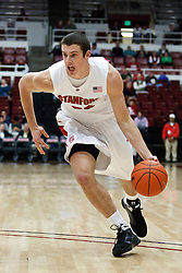 November 10, 2010; Stanford, CA, USA;  Stanford Cardinal forward Jack Trotter (50) dribbles the ball against the Cal State Monterey Bay Otters during the first half at Maples Pavilion.