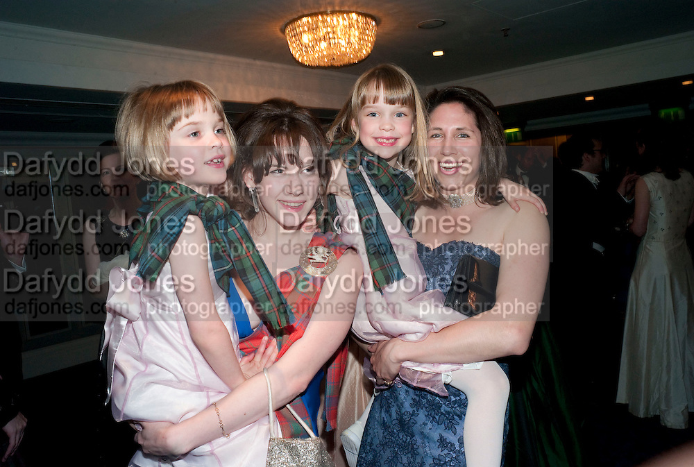 LAVINIA PRIMROSE; FRANCESCA LAMARQUE; DELFIE PRIMROSE; MARIE LOUISE AGIUS,  The Royal Caledonian Ball 2010. Grosvenor House. Park Lane. London. 30 April 2010 *** Local Caption *** -DO NOT ARCHIVE-© Copyright Photograph by Dafydd Jones. 248 Clapham Rd. London SW9 0PZ. Tel 0207 820 0771. www.dafjones.com.<br /> LAVINIA PRIMROSE; FRANCESCA LAMARQUE; DELFIE PRIMROSE; MARIE LOUISE AGIUS,  The Royal Caledonian Ball 2010. Grosvenor House. Park Lane. London. 30 April 2010