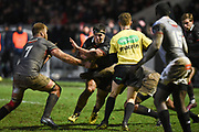 Stuart McInally on the ball during the Guinness Pro 14 2017_18 match between Edinburgh Rugby and Southern Kings at Myreside Stadium, Edinburgh, Scotland on 5 January 2018. Photo by Kevin Murray.