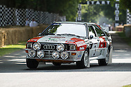 Chichester, UK - July 2013: Audi Quattro in action on the hill at the Goodwood Festival of Speed on July 12, 2013.