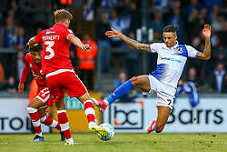 Daniel Leadbitter of Bristol Rovers challenges Josh Doherty of Crawley Town  - Mandatory by-line: Ryan Hiscott/JMP - 14/08/2018 - FOOTBALL - Memorial Stadium - Bristol, England - Bristol Rovers v Crawley Town - Carabao Cup