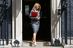 © Licensed to London News Pictures. 17/07/2018. London, UK. Secretary of State for Work and Pensions Esther McVey leaves 10 Downing Street after the Cabinet meeting. Photo credit: Rob Pinney/LNP