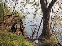Border patrol agents look across the Rio Grande river, in Roma, TX, on the U.S.-Mexico border, on February 2, 2017 (Photo/Scott Dalton)