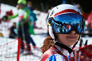 """Schladming, Austria - 2017 March 21: Angela Koehler from Switzerland (343) looks back during Alpine Skiing Competition while Special Olympics World Winter Games Austria 2017 on the """"Sepp-Walcher-Downhill"""" (Slope 32) near the """"Tauernalm"""" in Rohrmoos on March 21, 2017 in Schladming, Austria.<br /> <br /> Mandatory credit:<br /> Photo by © Adam Nurkiewicz / Mediasport<br /> <br /> Adam Nurkiewicz declares that he has no rights to the image of people at the photographs of his authorship.<br /> <br /> Picture also available in RAW (NEF) or TIFF format on special request.<br /> <br /> Any editorial, commercial or promotional use requires written permission from the author of image.<br /> <br /> Image can be used in the press when the method of use and the signature does not hurt people on the picture."""