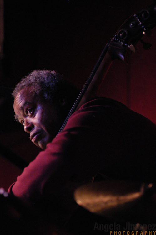 Bassist Ray Drummond performs with The Drummonds at the Jazz Standard in Manhattan on April 8, 2003.