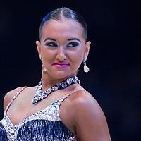 23 January 2010: Elena Salikohva performs during the Masters Bercy Latin and Ballroom (standard) Dancesport Championship 2010, at Palais Omnisports Paris Bercy, in Paris, France. .