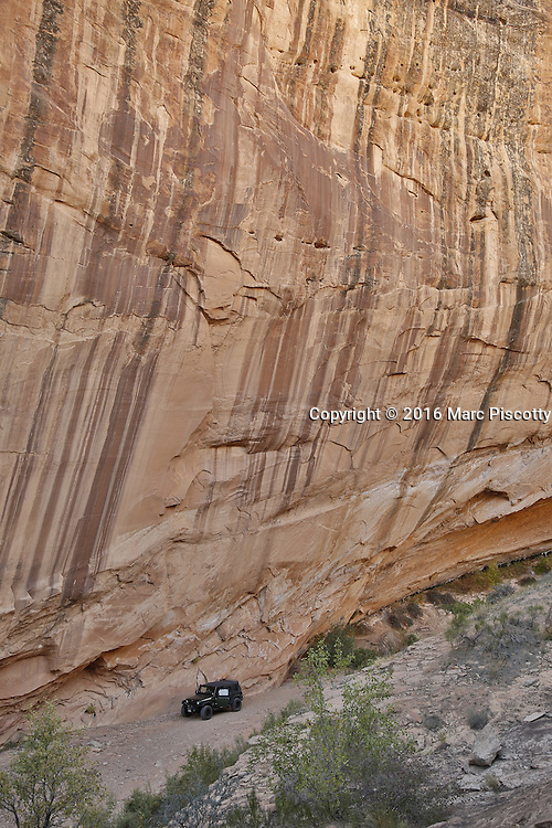 SHOT 10/18/16 3:29:52 PM - Emery County Utah tourism photos including hiking and exploring Goblin Valley including an arch rappel, the Black Dragon Canyon and  mountain biking Saucer Basin with Lamar Guymon. (Photo by Marc Piscotty / © 2016)