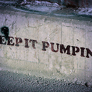 Keep It Pumping (graffiti), Stockholm, Sweden (August 2006)