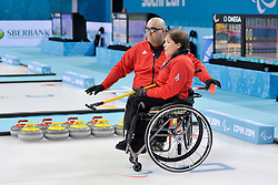 Aileen Neilson, Gregor Ewan, Wheelchair Curling Semi Finals at the 2014 Sochi Winter Paralympic Games, Russia
