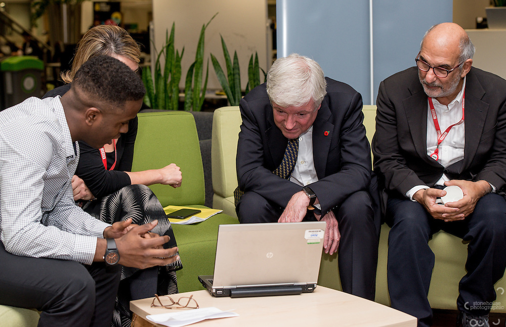 Director General of the BBC Tony Hall visits the BBC Birmingham and chats with Writer in Residence.