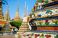 Thailande, Bangkok, le Wat Pho, temple du Bouddha couché // Thailand, Bangkok, Wat Pho, sleeping Buddha temple