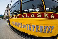 Skagway Street Car Tour, Skagway, Inside Passage, southeast Alaska USA.