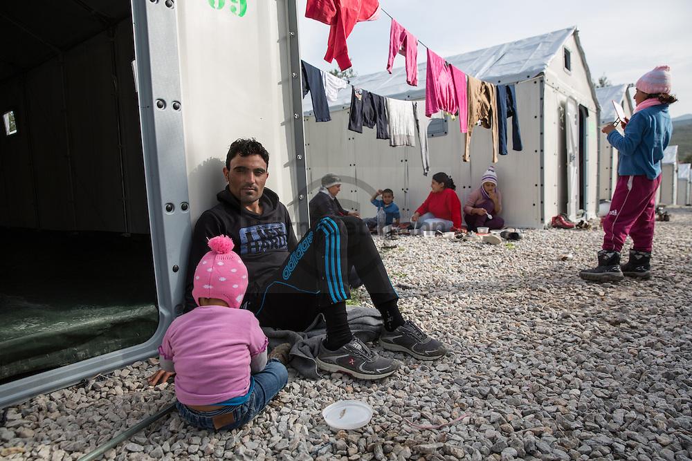 Kara Tepe, Lesvos, Greece - 29.02.2016        <br /> <br /> Kara Tepe refugee camp on the Greek island Lesvos.<br /> <br /> Kara Tepe Fluechtlingslager auf der griechischen Insel Lesbos.<br />  <br /> Foto: Bjoern Kietzmann