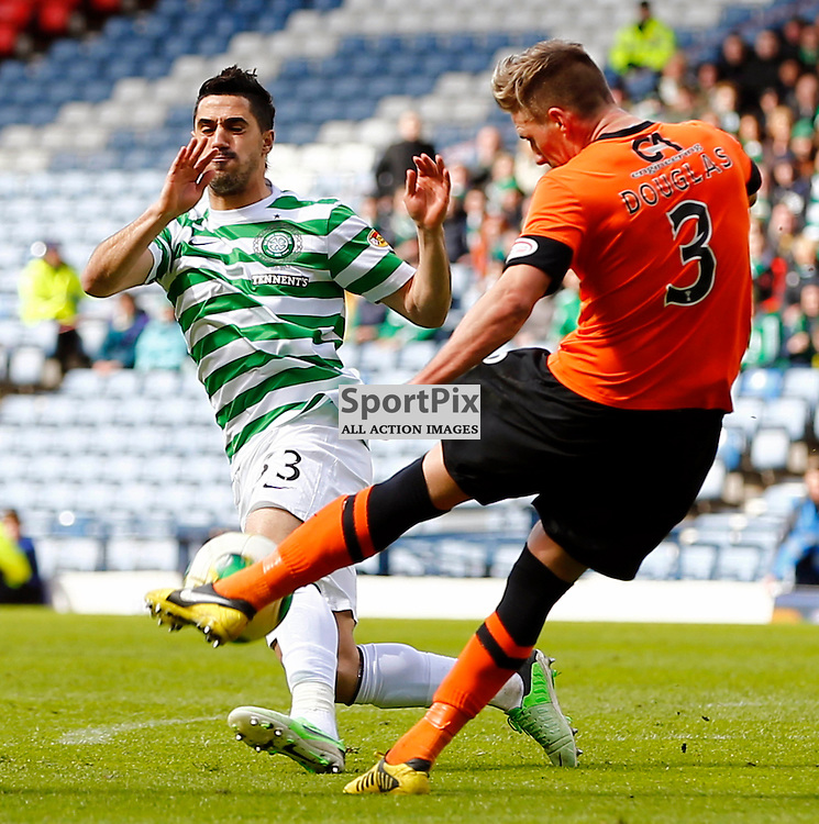 Dundee United v Celtic Scottish Cup Semi Final..Beram Kayal and Barry Douglas.....(c) STEPHEN LAWSON | StockPix.eu