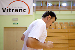 Matjaz Smodis during practice session of Slovenian National Basketball team during training camp for Eurobasket Lithuania 2011, on July 12, 2011, in Arena Vitranc, Kranjska Gora, Slovenia. (Photo by Vid Ponikvar / Sportida)