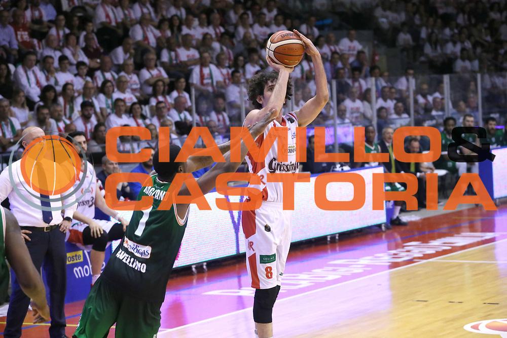 Della Valle Amedeo<br /> Grissin Bon Reggio Emilia - Sidigas Avellino<br /> Playoff gara 3<br /> Legabasket A 2016/2017<br /> Reggio Emilia 17/05/2017<br /> Foto Ciamillo-Castoria