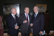 Jeremy Brown, Julian Fellowes and Mark Glazebrook. Jacob van Ruisdael: Masters of Landscape. 21 February 2006. ONE TIME USE ONLY - DO NOT ARCHIVE  © Copyright Photograph by Dafydd Jones 66 Stockwell Park Rd. London SW9 0DA Tel 020 7733 0108 www.dafjones.com