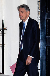 © Licensed to London News Pictures. 07/01/2019. London, UK. Chancellor of the Exchequer Philip Hammond leaves 11 Downing Street. British Prime Minister Theresa May is currently trying to persuade MPs to back her Brexit withdrawal deal. MPs will be debating the issue this week, with the postponed vote taking place on Tuesday 15th January. Photo credit : Tom Nicholson/LNP