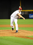 June 14 2011; Phoenix, AZ, USA; Arizona Diamondbacks pitcher .Aaron Heilman (44) delivers a pitch against the San Francisco Giants at Chase Field. The Giants defeated the Diamondbacks 6-5.  Mandatory Credit: Jennifer Stewart-US PRESSWIRE.