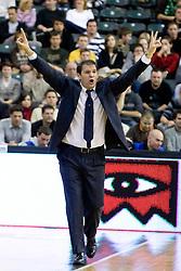 Head coach of Lottomatica Ferdinando Gentile at Euroleague basketball match in 5th Round of Group C between KK Union Olimpija and Virtus Lottomatica Roma, on November 25, 2009, in Arena Tivoli, Ljubljana, Slovenia. Union Olimpija defeated Lottomatica 87-70. (Photo by Vid Ponikvar / Sportida)