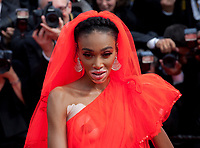 Winnie Harlow at the Once Upon A Time... In Holywood gala screening at the 72nd Cannes Film Festival Tuesday 21st May 2019, Cannes, France. Photo credit: Doreen Kennedy