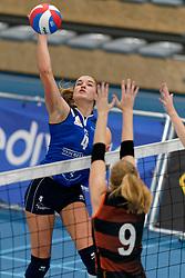 26-10-2019 NED: Talentteam Papendal - Sliedrecht Sport, Ede<br /> Round 4 of Eredivisie volleyball - Jolijn de Haan #4 of Sliedrecht Sport