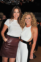 Left to right, LISA SNOWDON and KELLY HOPPEN at a party to celebrate the Kelly Hoppen and Smallbone kitchen range held at The Collection, 264 Brompton Road, London on 24th September 2012.