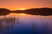 Spray Lake at sunrise<br />Duck Mountain Provincial Park<br />Manitoba<br />Canada