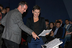 © Licensed to London News Pictures . 27/09/2015 . Brighton , UK . MARY CREAGH MP speaks at a Progress Rally fringe event at screen one of the Odeon Cinema on Brighton seafront , during the 2015 Labour Party Conference . Photo credit : Joel Goodman/LNP