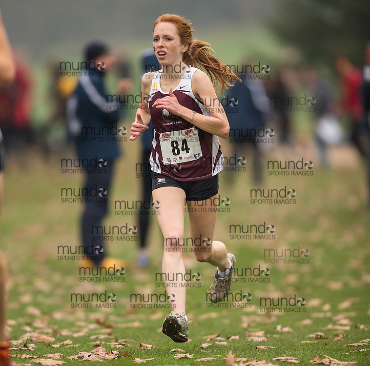 London, Ontario ---2012-11-10--- Victoria Coates of Mcmaster Marauders competes at the 2012 CIS Cross Country Championships at Thames Valley Golf Course in London, Ontario, November 10, 2012. .GEOFF ROBINS Mundo Sport Images