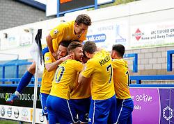 Bristol Rovers celebrates Bristol Rovers' Ollie Clarke goal - Photo mandatory by-line: Neil Brookman/JMP - Mobile: 07966 386802 - 01/11/2014 - SPORT - Football - Telford - New Bucks Head Stadium - AFC Telford v Bristol Rovers - Vanarama Football Conference