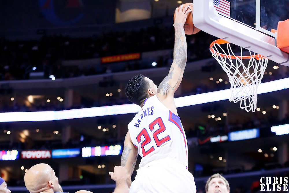 10 January 2014: Los Angeles Clippers forward Matt Barnes (22) goes for the dunk during the Los Angeles Clippers 120-100 victory over the Dallas Mavericks, at the Staples Center, Los Angeles, California, USA.