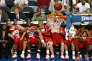 3/21/08---NCAA Division I Men's Basketball Championship---Western Kentucky vs. Drake ----The WKU bench react to a teammates shot prior to overtime. KATHY MOORE/TAMPA TRIBUNE